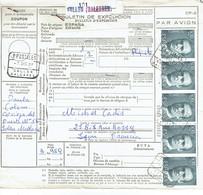 Espagne Coli Postal Avec Timbres Roi  Juan Carlos 7-10-1989 - 1931-Aujourd'hui: II. République - ....Juan Carlos I