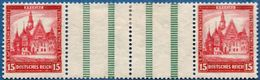 Germany Nothilfe 1931 15 Pf Pair Separated By Two Barred Fields From Booklet Sheet MH 2005.1126 Michel WZ8 - Unused Stamps
