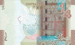 Kuwait P.29 1/4 Dinar 2014  Unc - Kuwait