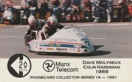 Isle Of Man, MAN 039, 2 £,Tt Racers 1991, Molyneaux/Hardmann, 2 Scans. - Man (Ile De)