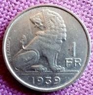 BELGIE/BELGIQUE : 1 FRANK  1939 Fr*FL KM 119 - 1934-1945: Leopoldo III