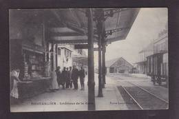 CPA Doubs 25 Pontarlier Gare Chemin De Fer Train Circulé - Pontarlier