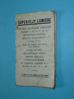 Ancien Guide Notice D'utilisation SUPER ELJY LUMIERE, Le Plus Petit Des Appareills De Petit Format, Photo Photographie - Other