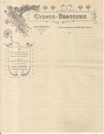 CYRANOS BRASSERIE . FATTACCIOLI . CASABLANCA . FACTURE - Publicités
