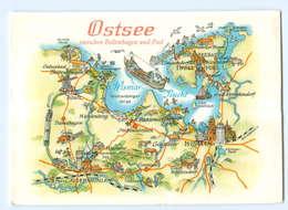 Y5664/ Ostsee Zwischen Boltenhagen Und Poel  Landkarten AK Bild Und Heimat  - Deutschland