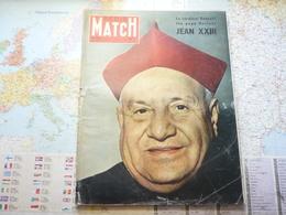 """Paris Match N°500 8 Novembre 1958 Jean XXIII / Autant En Emporte Le Vent / Le Cadet Belge Et Les """"parisiennes"""" - Testi Generali"""