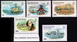 Bahamas 1980, Michel# 454 - 458, 461 ** - Bahamas (1973-...)