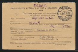 Kriegsgefangenen Postkarte Lager 7860 Rußland UDSSR Kiel Friedrichsort Pries   - Briefmarken