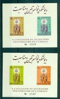 Afghanistan UNESCO Symbol Two Imperforate Souvenir Sheet Block MNH 1962 A04s - Afghanistan