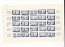 Feuille Complète De 25 Timbres Du  N°922 Narvik. - Full Sheets