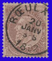"COB N° 61 - Belle Oblitération ""RŒULX (LE)"" - 1893-1900 Schmaler Bart"
