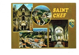 Cpm - 38 - SAINT CHEF - MULTIVUES Blason - Saint-Chef