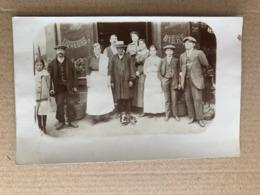 Carte Photo D'un Café Avec Le Bougnat En 1916     97 Bd De La Revolte    Saint Denis    93  Seine Saint Denis - Saint Denis