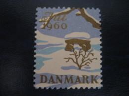 Jul 1960 Dolmen Menhir Prehistory Archeology History Poster Stamp Vignette DENMARK Label - Preistoria