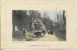 CORMEILLES Route Du Fort (carte Couleur, Animation) - Cormeilles En Parisis