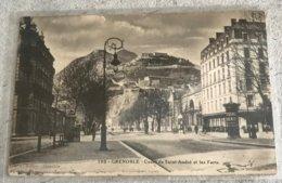 38  Grenoble 1946 Cours De Saint Andre Les Forts Colonne Morris Tampon Hopital - Grenoble