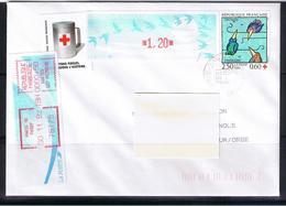 Atm, Lisa1, 1.20 Oiseaux TURQUOISE De Jubert, TIMBRE 2.50+0.60 Croix Rouge 1992, Complément Comète 0.50, MOG De Guichet, - 1990 «Oiseaux De Jubert»