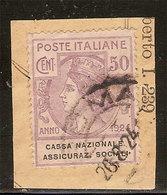 (Fb).Regno.V.E.III.1924.Franchigia.Enti Parastatali.50c Violetto Usato (88-16) - Franchigia