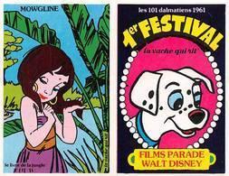 Série Complète 14 Images Adhésif Autocollant La Vache Qui Rit Fromagerie Bel Disney Livre De La Jungle - Vieux Papiers