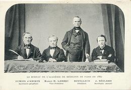 Jean Baptiste Bouillaud Né à Garat  President Academie Médecine 1862 Dubois D' Amiens, Larrey , Béclard Né à Angers - France