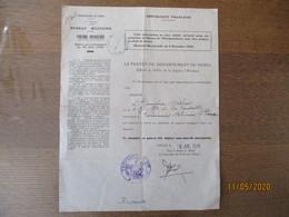 PREFECTURE DU NORD BUREAU MILITAIRE PIGEONS VOYAGEURS LILLE LE 6 JUIL. 1948 AUTORISATION A OUVRIR UN COLOMBIER - Documents Historiques