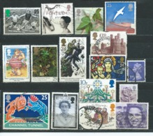 UK001 Piccolo Lotto  15 Valori Usato - 1952-.... (Elisabetta II)