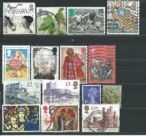 UK002 Piccolo Lotto  15 Valori Usato - 1952-.... (Elisabetta II)