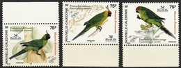 2005 New Caledonia Threatened Parakeets Set (** / MNH / UMM) - Parrots