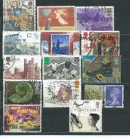 UK003 Piccolo Lotto  15 Valori Usato - 1952-.... (Elisabetta II)