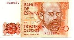 BILLETE DE 200 PESETAS 1980 - [ 4] 1975-… : Juan Carlos I