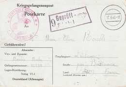 CPFM Prisonnier Stalag VI J. Censure Du Camp  Illustrée Cor De Chasse+ Censure Controle Postal Commission UP - Poststempel (Briefe)