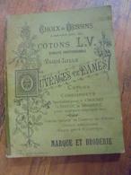 Album COTONS L.V. Ouvrages De Dames Alphabets Choix De Dessins Marque Et Brodeie - Cross Stitch