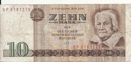 ALLEMAGNE 10 MARK 1971 VF P 28 - [ 6] 1949-1990 : GDR - German Dem. Rep.