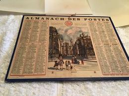 Calendrier Almanach  PTT Des Postes 1948 Éclipse Saison Nancy Par Des Chemins De Fer Bouches-du-Rhône - Calendarios