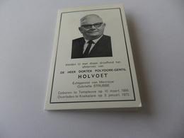 Doodsprentje Koekelare Burgemeester Polydore-gentil Holvoet - Religion & Esotérisme