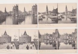 28017 Lot 4 Cpa Stereo Stereoscopique HOLLANDE NL Amsterdam Binnenamstel Tour Pleureuses Pypenmarkt Mont Albans - Amsterdam