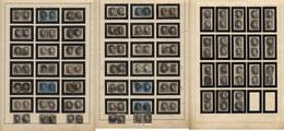Medaillons 6-7-10-11 -lot De 118 TP En Paires Obl. Pour étude Planchage.Second Choix à Vérifier Sur Scans.Lot Collection - 1849-1865 Medallions (Other)