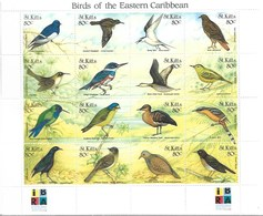 ST. KITTS 1999 Birds MNH - Otros