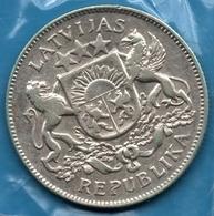 LATVIJAS REPUBLIKA  2 LATI 1926 Silver 0.835 KM# 8 LATVIA - Latvia