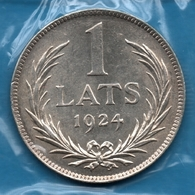 LATVIJAS REPUBLIKA  1 LATS 1924 Silver 0.835 KM# 7 LATVIA - Latvia