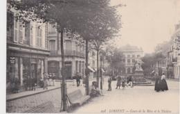 Bv - Cpa LORIENT - Cours De La Bôve Et Le Théatre - Lorient