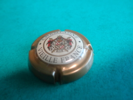 CAPSULE DE CHAMPAGNE  -    LE BRUN ALBERT  -  N°09 Contour Or Foncé Mat, Vielle France - Champagne