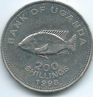 Uganda - 1998 - 200 Shillings - KM68 - Non Magnetic - Oeganda