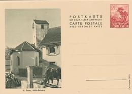 Liechtenstein Entier Postal Illustré - Stamped Stationery