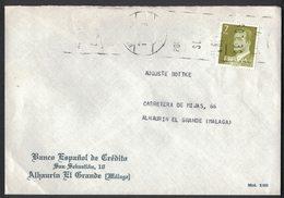 IC53   Spain 1988 Commercial Cover Alhaurin El Grande (Malaga) 7pta Banco Espanol De Credito - 1981-90 Briefe U. Dokumente