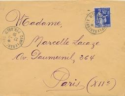 """FM N° 10 Obl """" CAMP LE BARCARES PYRÉNÉES ORIENTALES 27/7/39  """" RÉFUGIÉ ESPAGNOL - INTERNÉ CIVIL - PRISONNIER WW2 Lettre - Postmark Collection (Covers)"""