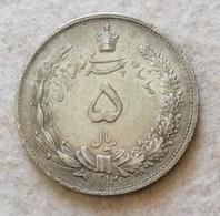 Iran 5 Rials 1931/2 (Argento 828) - Iran