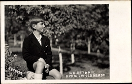 Cp Porträt Peter II. Karađorđević, Kronprinz Von Jugoslawien - Familles Royales