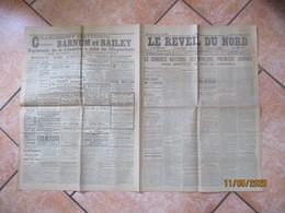 LE REVEIL DU NORD DU 26 SEPTEMBRE 1902 LE CONGRES NATIONAL DES MINEURS;PREMIERE JOURNEE,GREVE AUX MINES DE L'ESCARPELLE - Autres