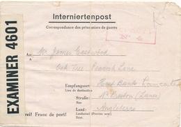 CAMP LA GRANDE CASERNE St DENIS Lettre Interné Anglais Correspondance Prisonier De Guerre - Internne British WW2 Censor - Historical Documents
